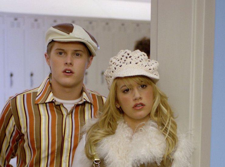 Ashley Tisdale e Lucas Grabeel in High School Musical.