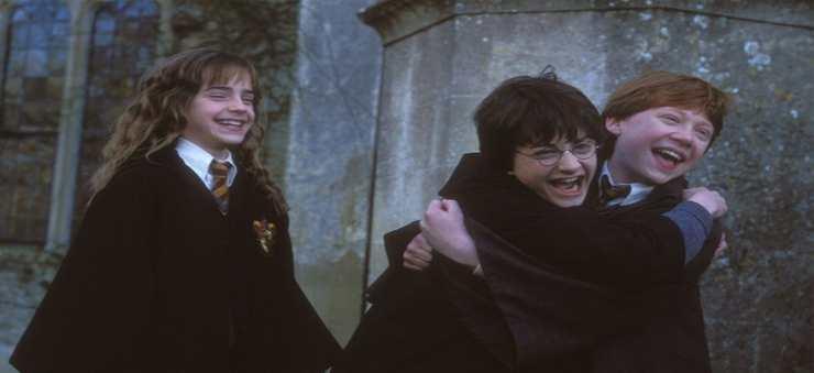 Da sinistra: Emma Watson, Daniel Radcliffe e Rupert Grint in Harry Potter - Fonte: Instagram