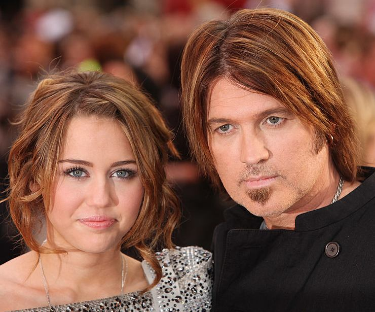Miley Cyrus e suo padre Billy Ray Cyrus