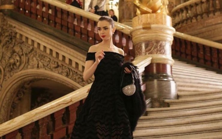 Una scena della serie televisiva Netflix, Emily in Paris