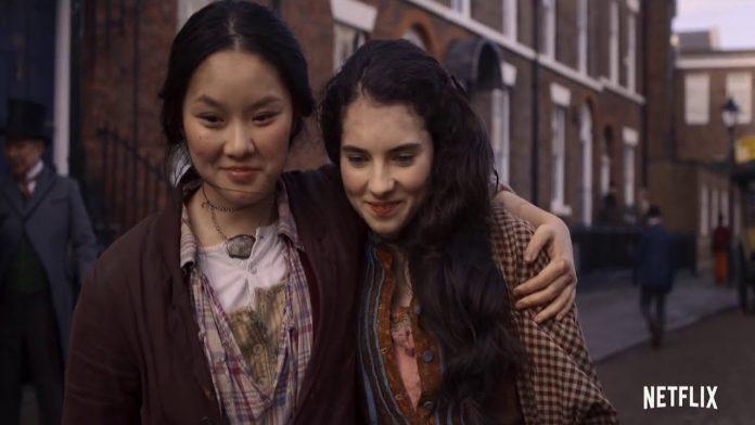Una scena della serie televisiva netflix, The Irregulars.