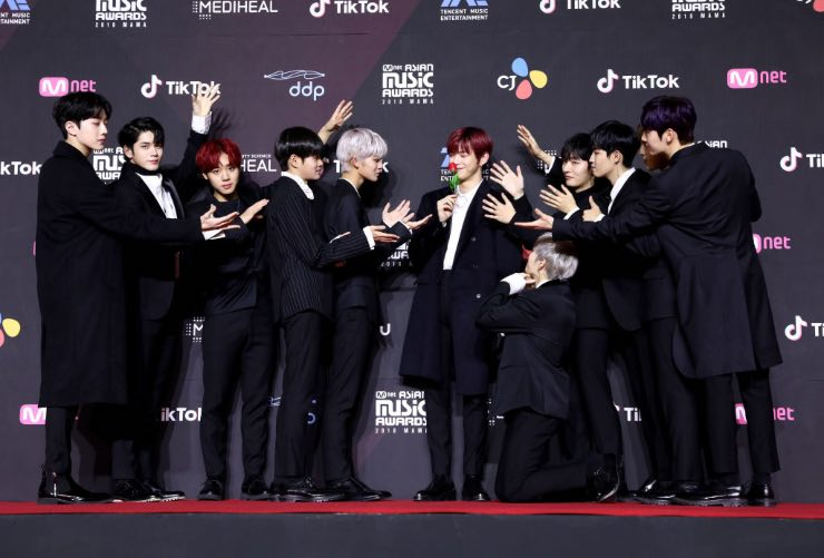 Kang Daniel e Wanna One. Fonte: Getty Images