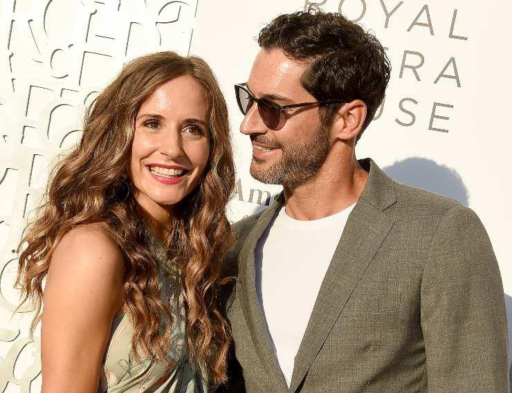 Tom Ellis e Sua moglie. Fonte: Getty