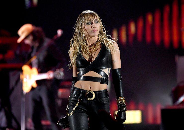 Miley Cyrus concerto. Fonte: Getty