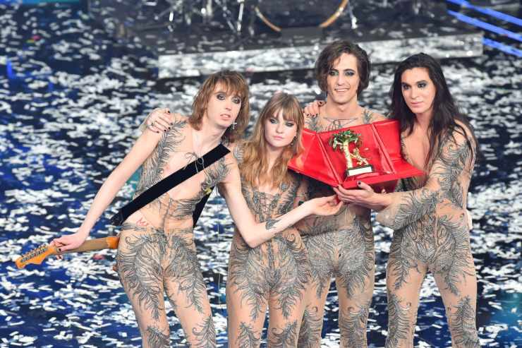 Maneskin, vincitori di Sanremo - fonte Gettyimages