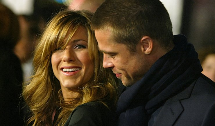 Brad Pitt e Jennifer Aniston. Fonte: Getty