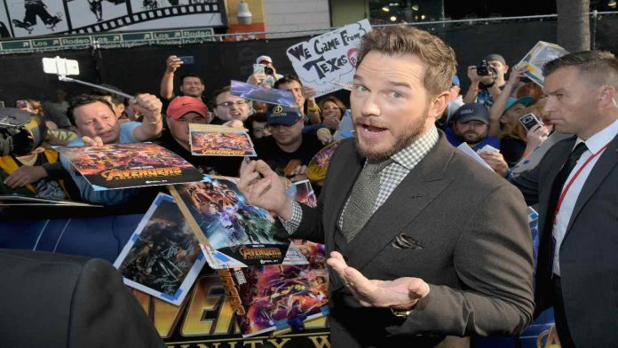 L'attore Chris Pratt, Fonte: Getty Images
