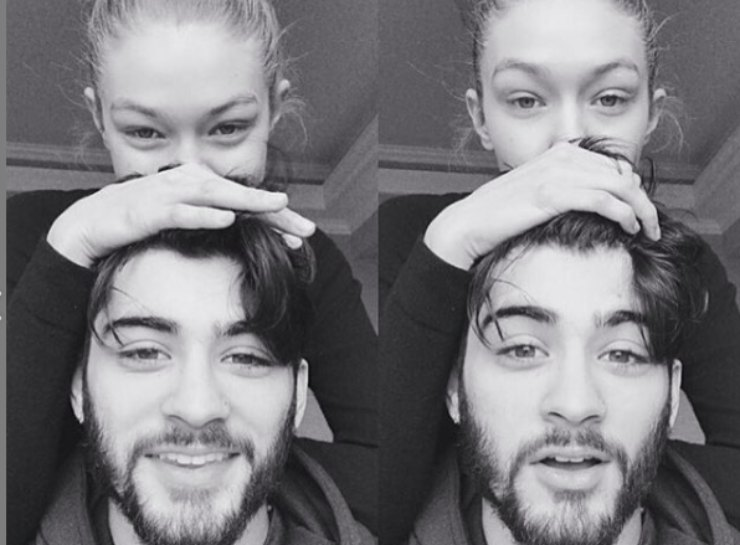 Coppia Zayn e Gigi. Fonte: Instagram