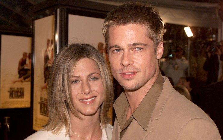 Jennifer Aniston, attrice e Brad Pitt.