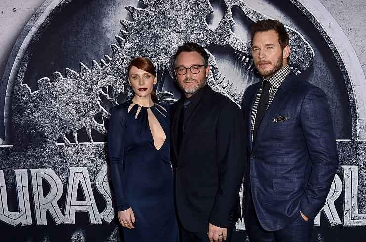 """Jurassic Park, presentazione di """"Jurassic World"""" con Bryce Dallas Howard, Colin Trevorrow, Chris Pratt - Fonte: Getty Images"""