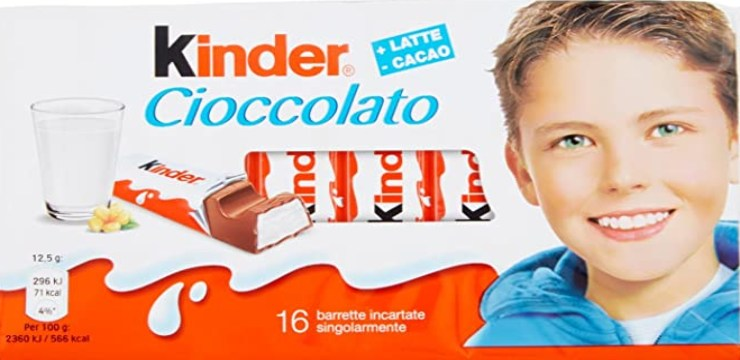 Bambino Kinder Cioccolato - Fonte: Instagram