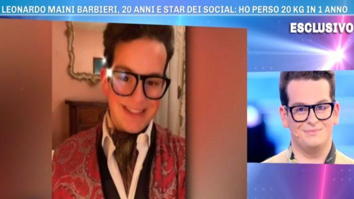 Leonardo Maini Barbieri a Domenica Live - Fonte: Instagram