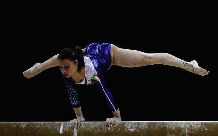La famosa campionessa italiana di ginnastica Vanessa Ferrari