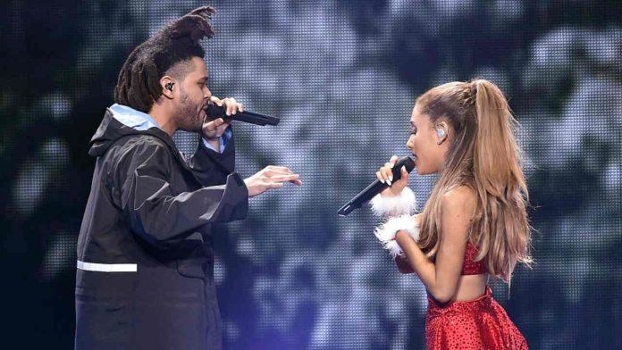 La nota cantante ariana Grande e The Weeknd