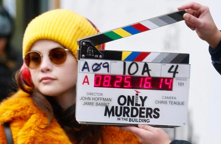 Only Murders in the Building, Selena Gomez sul set - Fonte: Instagram