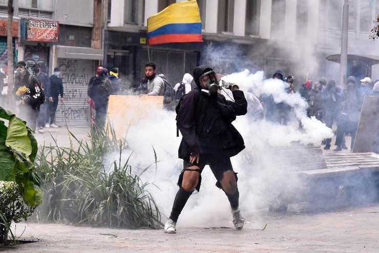 Proteste contro la riforma fiscale in Colombia, Fonte: Getty Images