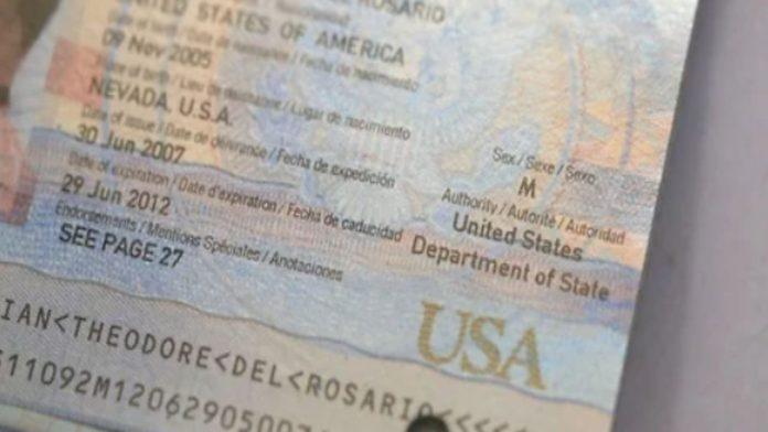 Passaporto Americano terzo genere