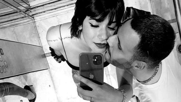 Raffaele e Martina bacio