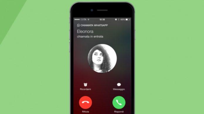 Aggiornamento whatsapp videochiamate