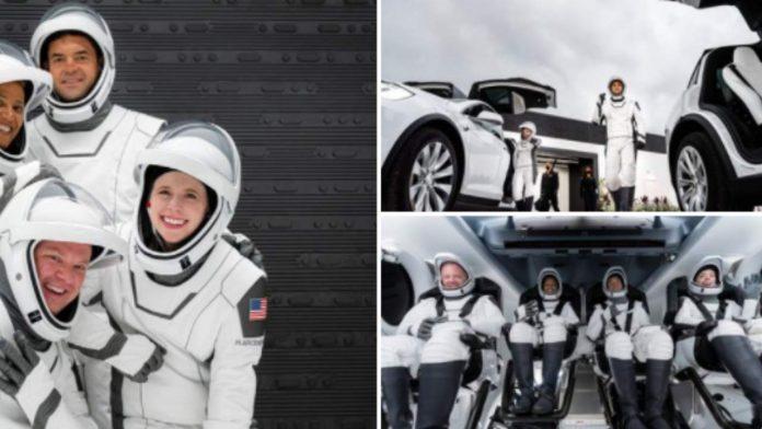 Viaggio nello spazio per turismo
