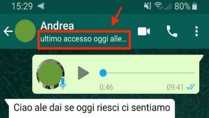 WhatsApp ultimo accesso